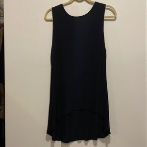 LOGO long tank top soft and stretchy asymmetrical